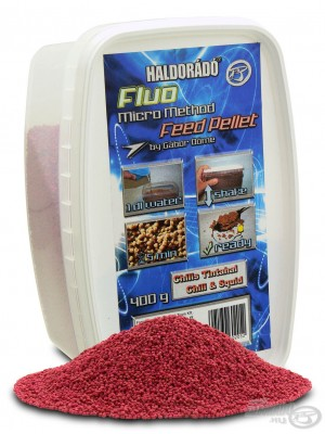 Haldorádó Fluo Micro Method Feed Pellet - Chili Squid