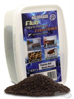 Haldorádó Fluo Micro Method Feed Pellet - Fekete Erő / Black Power (Čierna Sila)