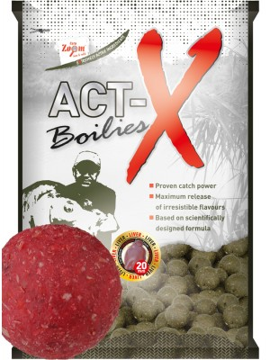 Carp Zoom Act-X Boilies - 20mm - Strawberry (jahoda)