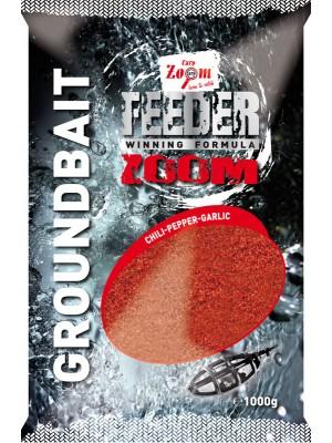Carp Zoom Feeder Zoom Groundbait -čili – čierne korenie-cesnak - červené - 1000g