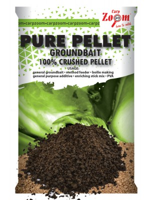 Carp Zoom Pure pellet groundbait - čierny halibut