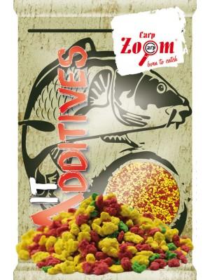 Carp Zoom Anglické vločky - červené – žlté – zelené MIX