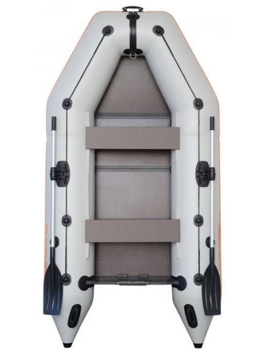 Čln Kolibri KM-260 P šedý, pevná podlaha + By Döme Team Feeder Carp Fighter 60 zdarma