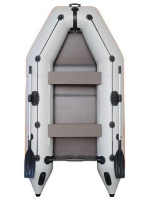 Čln Kolibri KM-300 P šedý, pevná podlaha + By Döme Team Feeder Carp Fighter 60 zdarma