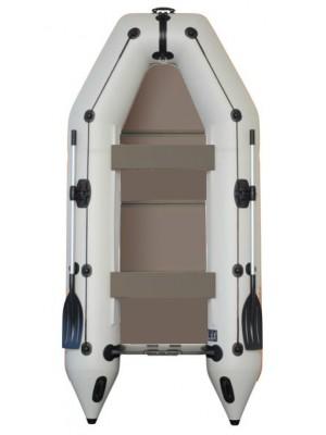 Čln Kolibri KM-330 P šedý, pevná podlaha + By Döme Team Feeder Carp Fighter 60 zdarma