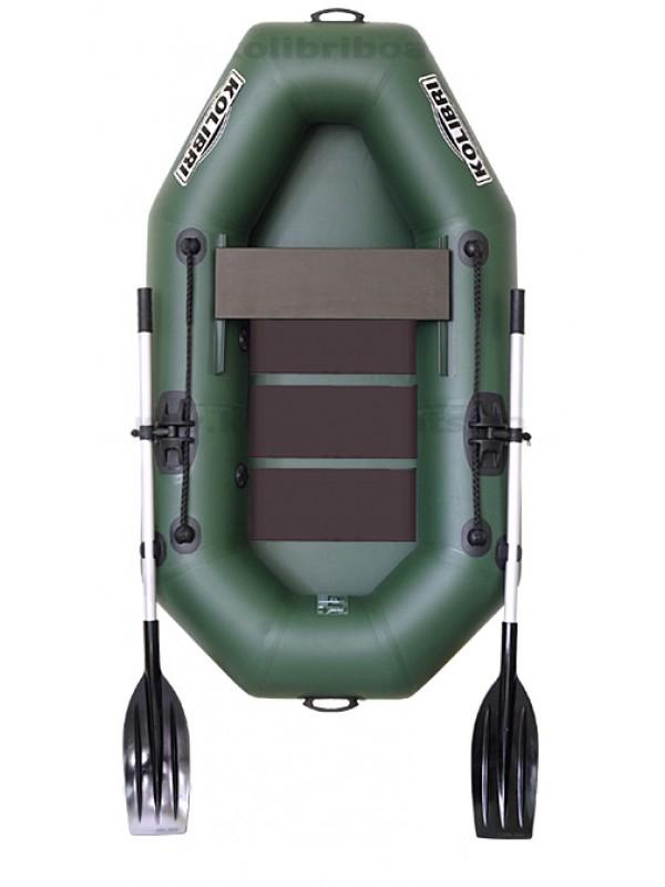 Čln Kolibri K-190 zelený, lamelová podlaha + Carp Expert UV Fluo 1000m
