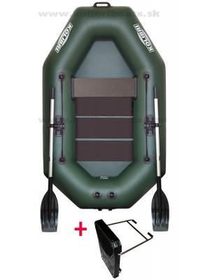 Čln Kolibri K-220 T zelený, lamelová podlaha + Carp Expert UV Fluo 1000m