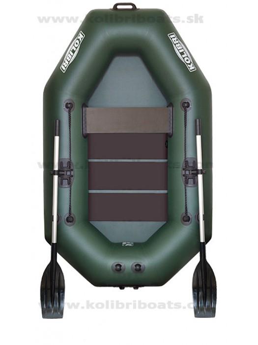 Čln Kolibri K-220 zelený, lamelová podlaha  + Carp Expert UV Fluo 1000m