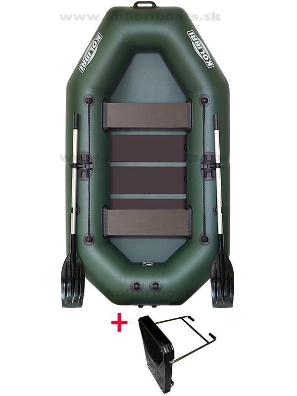 Čln Kolibri K-240 T zelený, lamelová podlaha + Carp Expert UV Fluo 1000m