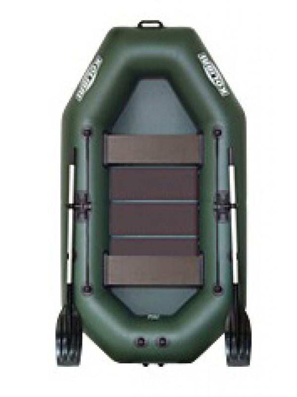 Čln Kolibri K-240 zelený, lamelová podlaha + Carp Expert UV Fluo 1000m