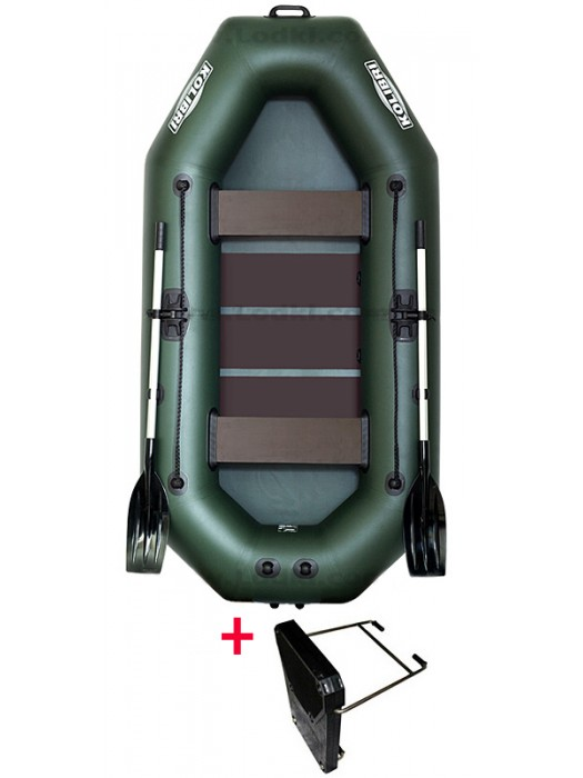Čln Kolibri K-260 T zelený, lamelová podlaha + Carp Expert UV Fluo 1000m