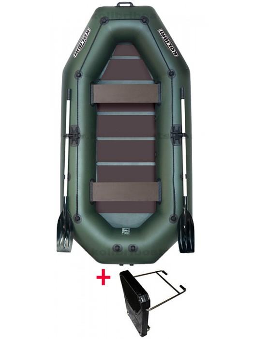 Čln Kolibri K-280 T zelený, lamelová podlaha + Carp Expert UV Fluo 1000m