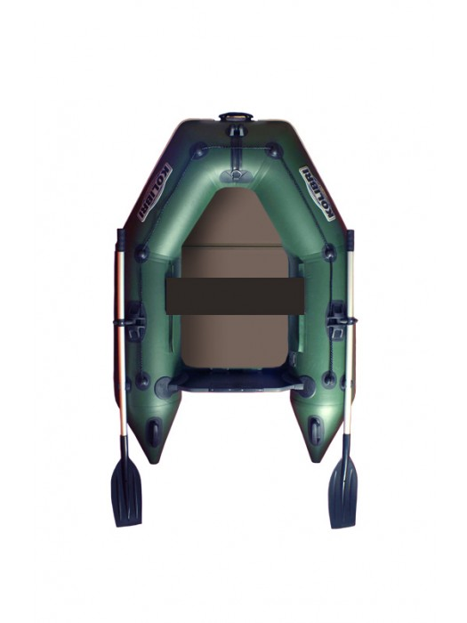 Čln Kolibri KM-200 P zelený, pevná podlaha + By Döme Team Feeder Carp Fighter 60 zdarma