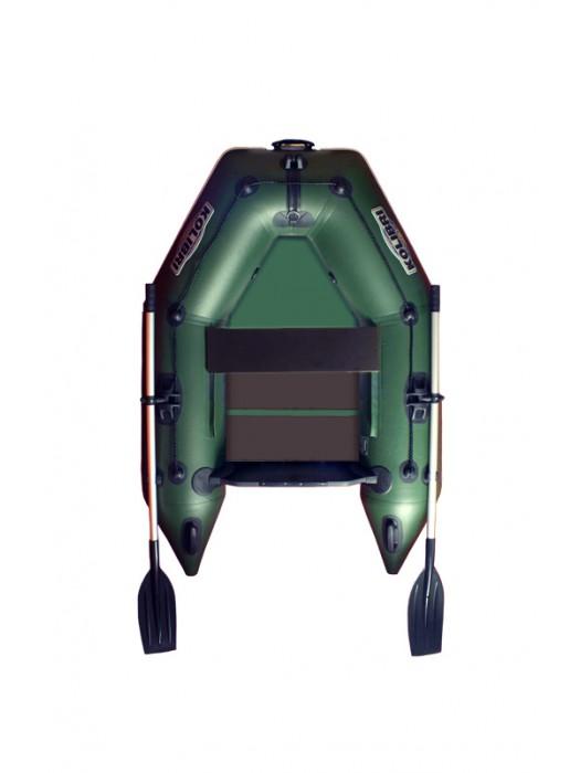 Čln Kolibri KM-200 zelený, lamelová podlaha + By Döme Team Feeder Carp Fighter 60 zdarma