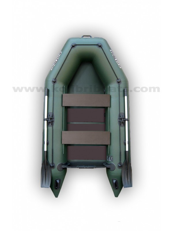 Čln Kolibri KM-260 zelený, lamelová podlaha + By Döme Team Feeder Carp Fighter 60 zdarma