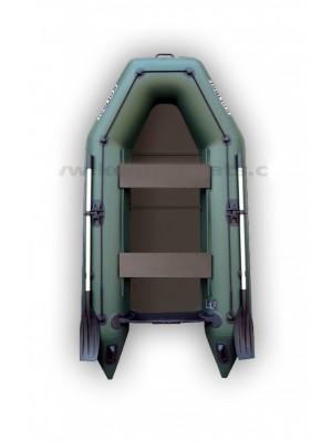 Čln Kolibri KM-280 P zelený, pevná podlaha + By Döme Team Feeder Carp Fighter 60 zdarma
