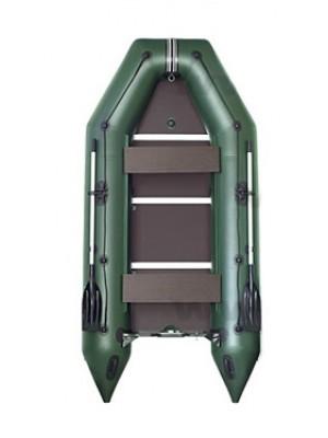 Čln Kolibri KM-300 D zelený, vystužená podlaha + By Döme Team Feeder Carp Fighter 60 zdarma