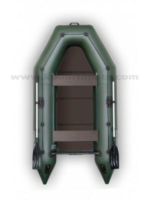Čln Kolibri KM-300 P zelený, pevná podlaha + By Döme Team Feeder Carp Fighter 60 zdarma