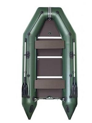 Čln Kolibri KM-330 D zelený, vystužená podlaha + By Döme Team Feeder Carp Fighter 60 zdarma
