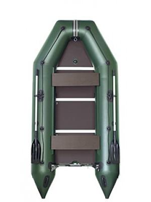 Čln Kolibri KM-360 D zelený, vystužená podlaha + By Döme Team Feeder Carp Fighter 60 zdarma